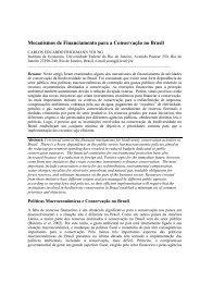 Mecanismos de Financiamento para a Conservação no Brasil