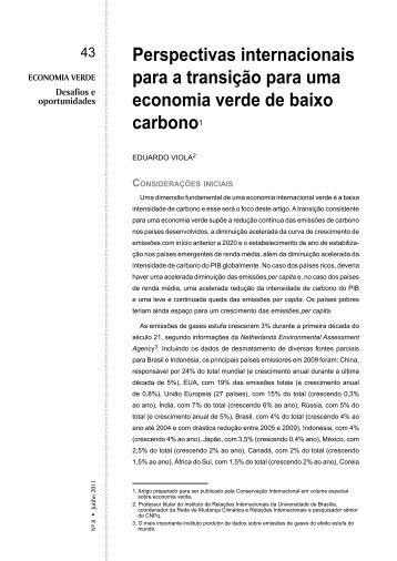 Perspectivas internacionais para a transição para uma economia ...