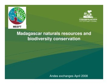 Madagascar naturals resources and biodiversity conservation - Library