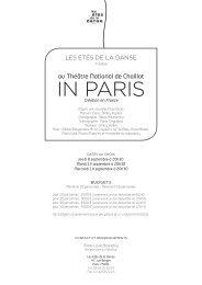 IN PARIS - les etes de la danse
