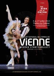 4 au 27 juillet 2013 Théâtre du Châtelet - les etes de la danse