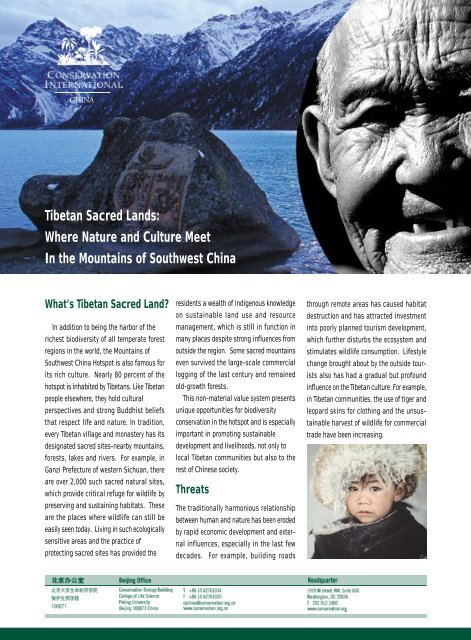Tibetan Sacred Lands: Where Nature and Culture Meet In ... - Library