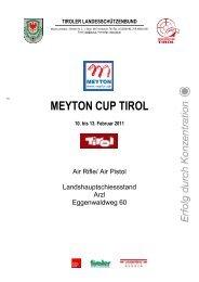 Meyton Cup Tirol - Luftgewehr - Luftpistole > Innsbruck