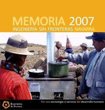 Memoria 2007_08 eve - ISF - Ingeniería Sin Fronteras