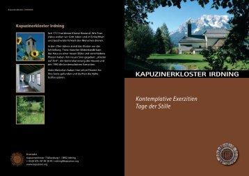Kontemplative Exerzitien Tage der Stille - Kapuziner