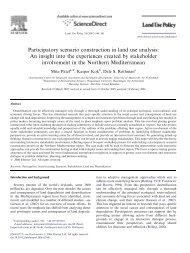 2005 Patel, Participatory scenario construction in land use ... - Library