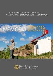 MEMORIA2009 - ISF - Ingeniería Sin Fronteras