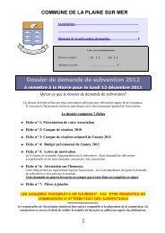 Dossier de demande de subvention 2012.pdf - Site Officiel de LA ...