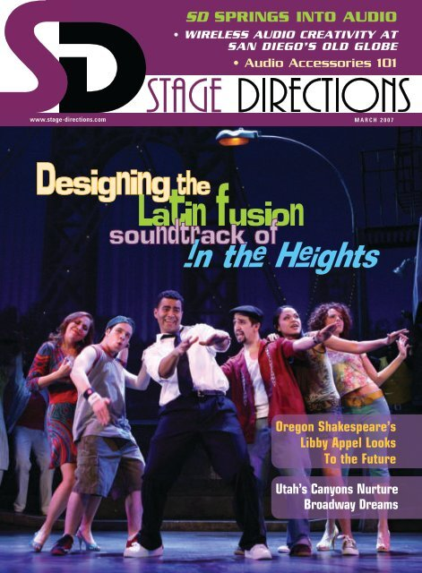 SD SPRINGS INTO AUDIO - Stage Directions Magazine