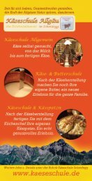 Käseschule Allgäu/Scheidegg