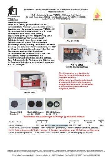 modellreihe r591 sicherheitsstufe b nach vdma 24992. Black Bedroom Furniture Sets. Home Design Ideas