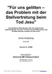 stellvertretenden Tod Jesu - Hopeandmore.at