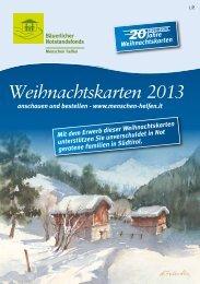 Weihnachtskarten 2013 - Bäuerlicher Notstandsfonds