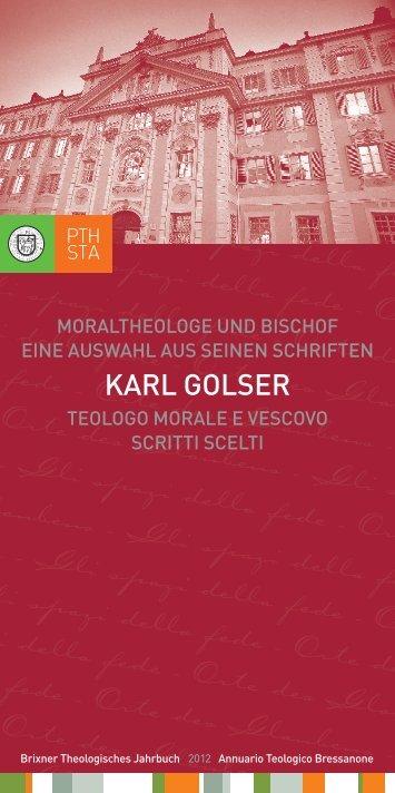 Gli spazi della fede - Orte des Glauben - Philosophisch ...