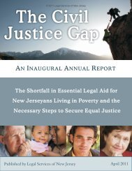 The Civil Justice Gap 2011 - Legal Services of New Jersey