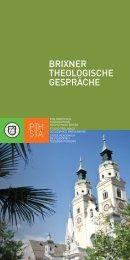 BRIXNER THEOLOGISCHE GESPRÄCHE - Philosophisch ...