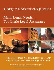 Unequal Access to Justice - Legal Services of New Jersey