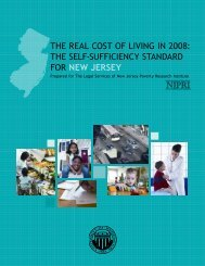 The Real CosT of living in 2008 - Legal Services of New Jersey