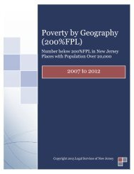 Poverty by Geography (200%FPL) - Legal Services of New Jersey