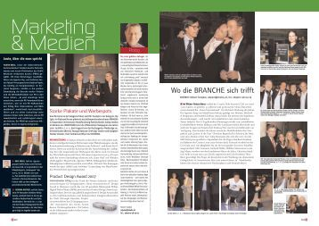"Presseclipping ""Messe & Event"" - Wolf FRANK Entertainment"