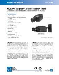 MC3600H-2 Digital CCD Monochrome Camera - Cables Plus USA