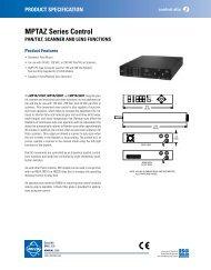 MPTAZ Series Control - Cables Plus USA