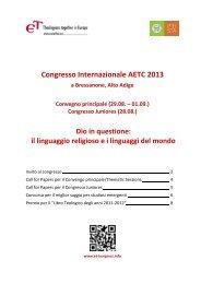 Congresso Internazionale AETC 2013 - Philosophisch ...