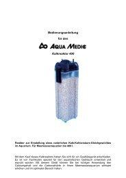 Bedienungsanleitung für den Kalkreaktor 400 - Zoo Hoefler
