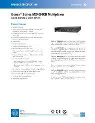 Genex® Series MX4004CD Multiplexer - Cables Plus USA