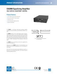 EA2000 Equalizing Amplifier - Cables Plus USA
