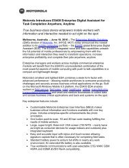 Motorola Introduces ES400 Enterprise Digital Assistant for Task ...