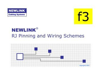 NEWLINK RJ Pinning and Wiring Schemes - Newlink Cabling ...