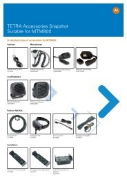 TETRA Accessories Snapshot Suitable for MTM800