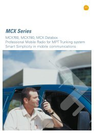 Professional Mobile Radio for MPT Trunking System Brochure