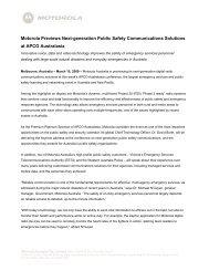 Motorola Previews Next-generation Public Safety Communications ...