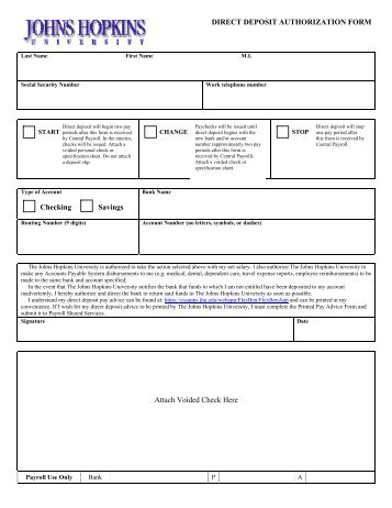 Direct Deposit Authorization Form Direct Deposit Check Example