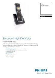 SE6590B/37 Philips Cordless telephone