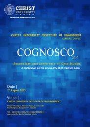 2013 Date | Venue | - Christ University