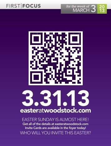 EASTER SUNDAY IS ALMOST HERE! WHO WILL YOU INVITE THIS ...