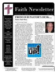 MAY 11 Faith NEWSLETTER.pub - Faith Lutheran Church