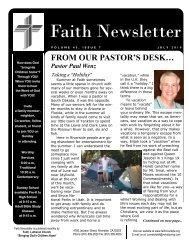 JUL 10 Faith NEWSLETTER.pub - Faith Lutheran Church