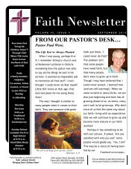 SEPT 10 Faith NEWSLETTER.pub - Faith Lutheran Church