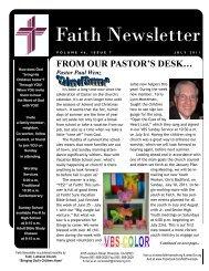 JULY 11 Faith NEWSLETTER.pub - Faith Lutheran Church