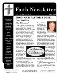 MAY 10 Faith NEWSLETTER.pub - Faith Lutheran Church