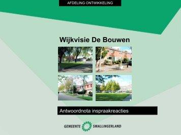 Wijkvisie De Bouwen - Gemeente Smallingerland