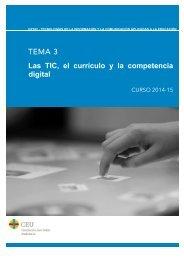 TEMA 3 Las TIC, el currículo y la competencia digital
