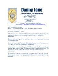 Social_Internet Alert_Report - Danny Lane Martial Arts Website