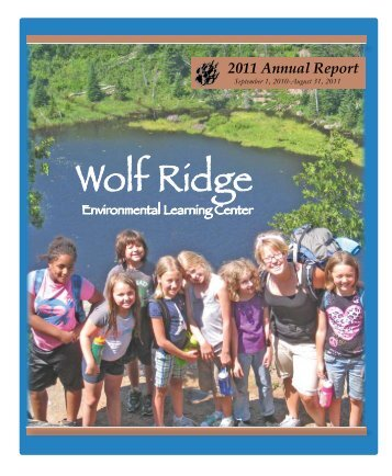 Annual Report - Wolf Ridge Environmental Learning Center