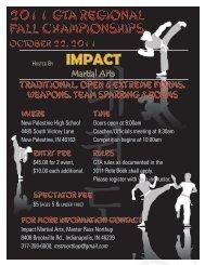 2011 GTA Regional Fall Championships 2011 ... - Kamikaze Karate