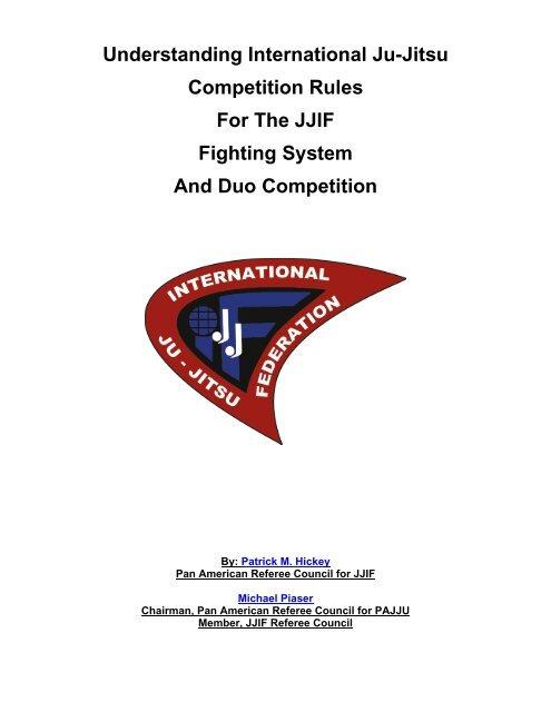 JJIF Rules Narrative - United States Ju-Jitsu Federation